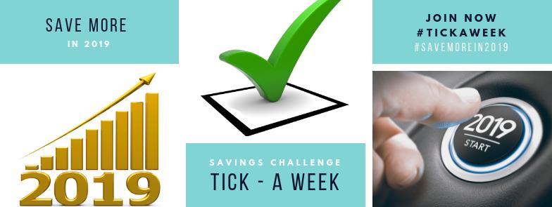 Tick-a-Week Savings Challenge
