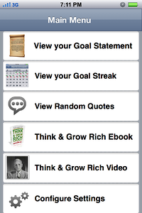 Think and Grow Rich Iphone App